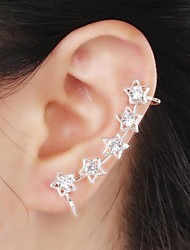 cheap -Women's Synthetic Diamond Ear Cuff Climber Earrings Helix Earrings Star Ladies Luxury Birthstones Rhinestone Imitation Diamond Earrings Jewelry For Wedding Party Daily Casual Masquerade Engagement