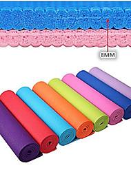 cheap -Yoga Mat 173.0*61.0*0.8 cm Odor Free Eco-friendly Sticky Non Toxic PVC(PolyVinyl Chloride) Waterproof Quick Dry Non Slip For Yoga Pilates Exercise & Fitness Purple Orange Green