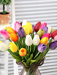 cheap -Artificial Flowers 1 Branch Simple Style Tulips Tabletop Flower