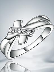 Недорогие -Жен. Заявление Цирконий Серебряный Стерлинговое серебро Цирконий В форме банта Массивный Мода Свадьба Для вечеринок Бижутерия Бант
