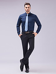cheap -Men's Wedding Party Office / Career Stylish / Classical / Basic Slim Fit Shirt - Solid Colored