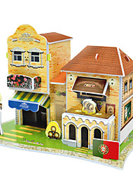 cheap -Handmade Portugal Hotel Building Model
