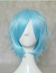 cheap -new stylish blue cosplay wig synthetic hair wigs short straight animated wigs party wigs Halloween