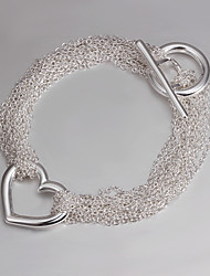 cheap -Italy 925 Silver Fashion Heart Design Bracelet Bracelets And Bangles 2015 New Products