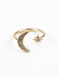 cheap -Women's Ring wrap ring thumb ring Silver Golden Rhinestone Imitation Diamond Alloy Ladies Wedding Party Jewelry Moon Adjustable
