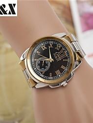 Недорогие -Жен. Наручные часы Кварцевый Серебристый металл / Золотистый Горячая распродажа Аналоговый Дамы Кулоны Мода Нарядные часы - Белый Черный Золотой