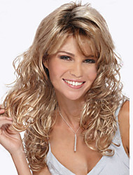 cheap -Synthetic Wig Natural Wave Kinky Curly Wig Blonde Long Strawberry Blonde Women's Blonde