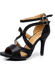 cheap -Women's Dance Shoes Latin Shoes Ballroom Shoes Salsa Shoes Sandal Buckle Stiletto Heel Buckle / EU40