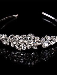 cheap -Sterling Silver / Crystal Headbands / Headwear with Floral 1pc Wedding / Special Occasion Headpiece
