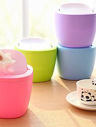 cheap -Mini Swing Lid Bright Candy Color Desktop Trash Can (Random Color)