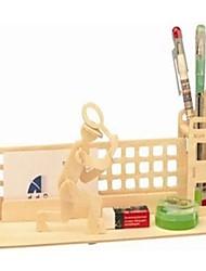 Недорогие -деревянный трехмерная головоломка теннисный мяч контейнер ручки