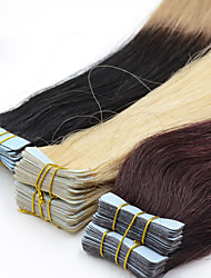 cheap -Tape In Human Hair Extensions Straight Human Hair Honney Blonde