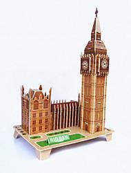 Недорогие -DIY Элизабет башня в форме 3d головоломки
