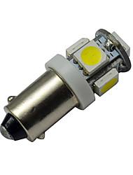 cheap -1pc 1W Ba9s LED Car Instrument Bulb 5 SMD 5050 Warm Cold Bulb 12V DC