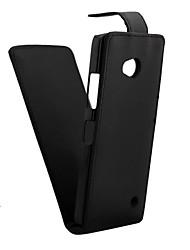 cheap -Case For Nokia Lumia 820 / Nokia Lumia 925 / Nokia Lumia 520 Nokia Lumia 535 / Nokia Lumia 435 Flip Full Body Cases Solid Colored Hard PU Leather