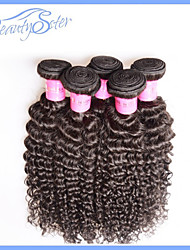 cheap -4Pcs Lot 6A Brazilian Virgin Hair Kinky Curly Unprocessed Human Hair Extensions Natural Black Hair Weaves