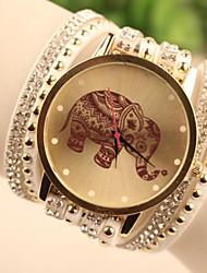 cheap -Women's Bracelet Watch Wrist Watch Quartz Leather White / Blue / Red Imitation Diamond Ladies Cartoon Fashion - White Red Blue