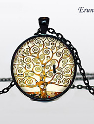 cheap -Men's Women's Pendant Necklace life Tree Alloy Black Silver Bronze Necklace Jewelry For Daily Casual Sports