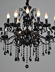 cheap -LWD 88 cm Crystal Chandelier Metal Candle-style Painted Finishes Modern Contemporary 110-120V / 220-240V