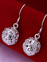 cheap -Women's Drop Earrings Hollow Out Ball Ladies Sterling Silver Earrings Jewelry For Wedding Party Daily Casual