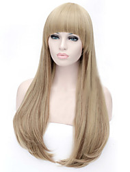 cheap -Synthetic Wig Straight Straight Asymmetrical Wig Long Medium Auburn Synthetic Hair Women's Natural Hairline Brown