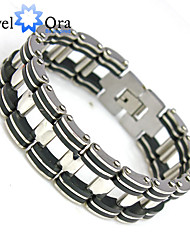 cheap -Silver Chain Bracelet Ladies Chain Personalized Unique Design Fashion Stainless Steel Bracelet Jewelry Silver For Party Birthday Engagement Gift Daily Casual