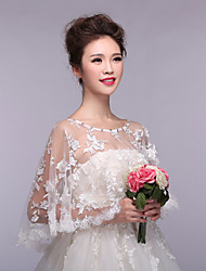 cheap -Sleeveless Lace / Tulle Wedding / Party Evening Wedding  Wraps With Appliques / Lace Capelets