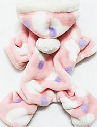 Недорогие -Собака Толстовки Одежда для собак С сердцем Хлопок Костюм Назначение Зима
