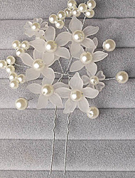 cheap -Women's / Flower Girl's Alloy / Imitation Pearl / Acrylic Headpiece-Wedding / Special Occasion Flowers / Hair Pin