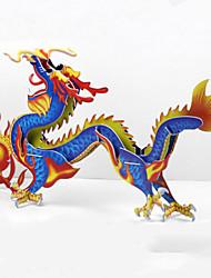 Недорогие -DIY китайский дракон в форме 3d головоломки