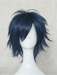 cheap -Cosplay Costume Wig Synthetic Wig Straight Straight Wig Blue Synthetic Hair Women's Blue hairjoy