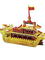 Недорогие -DIY лодка дракон в форме 3d головоломки