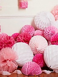 cheap -Tissue Paper Decoration Pearl Paper / Mixed Material Wedding Decorations Wedding Party Beach Theme / Garden Theme / Floral Theme Spring / Summer / Fall