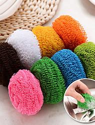 billige -sæt med 2 super ren microfiber bold rengøring af værktøj svamp (tilfældig farve)