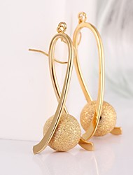 cheap -Women's Hoop Earrings Gold Plated Earrings Jewelry Rose / Golden For Wedding Party Daily