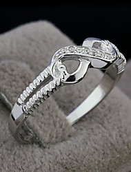 cheap -Women's Band Ring Silver Sterling Silver Silver Fashion Wedding Party Jewelry Love Infinity