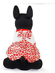 cheap -Cat Dog Dog Clothes Red Coffee Costume Cotton XXS XS S M L