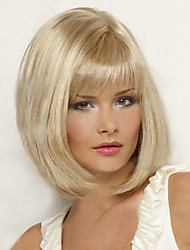 cheap -Synthetic Wig Straight Bob Wig Blonde Short Light Blonde Women's Blonde