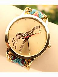 Недорогие -Жен. Наручные часы золотые часы Кварцевый Синий / Золотистый Аналоговый Дамы Кулоны Мода - 6 # 7 # 8 # Один год Срок службы батареи