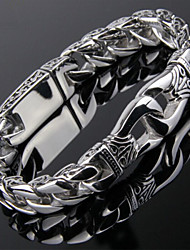 cheap -Men's Chain Bracelet Stainless Steel Bracelet Jewelry Silver For Christmas Gifts Party Casual Daily Sports