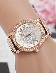 cheap -yoonheel Women's Luxury Watches Wrist Watch Diamond Watch Quartz Metal Rose Gold Designers Imitation Diamond Swiss Analog Ladies Charm Simulated Diamond Watch Fashion - Rose Gold One Year Battery Life