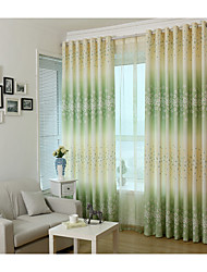 cheap -Blackout Curtains Drapes One Panels Bedroom Polyester Print & Jacquard