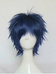 cheap -blue cosplay wig synthetic hair wigs man s short straight animated wigs party wigs Halloween