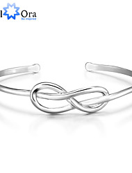 cheap -Love knot Knot Cuff Vintage Party Work Casual Sterling Silver Bracelet Jewelry Silver For
