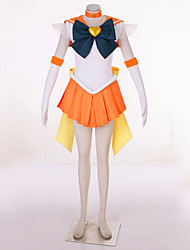 cheap -Inspired by Sailor Moon Sailor Uranus Video Game Cosplay Costumes Cosplay Suits Patchwork Dress Headpiece Gloves Costumes