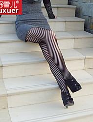 cheap -Women's Sexy Teddy Nightwear - Cotton Striped Black One-Size