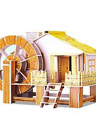 Недорогие -DIY водяного мельницы в форме 3d головоломки (8 пс)