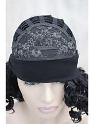 Недорогие -Парики из искусственных волос Кудрявый Кудрявый Парик Средние L16-613 Черный Искусственные волосы Жен. Черный Смешанные цвета Hivision