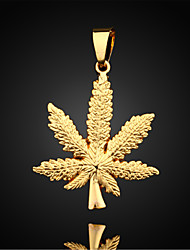 cheap -Pendant Necklace Pendant Figaro Maple Leaf Ladies Fashion Gold Plated Yellow Gold Necklace Jewelry For Daily Casual Sports
