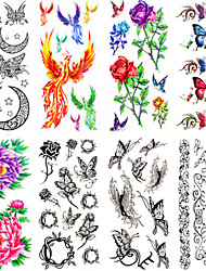 cheap -12 pcs Temporary Tattoos Waterproof / Non Toxic Paper Tattoo Stickers / Pattern